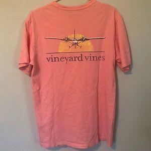 Vineyard Vines t-shirt airplane unisex EUC